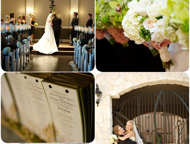 Black, White, & Green Texas Wedding Showcase