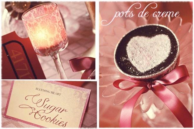 valentine's pots de creme