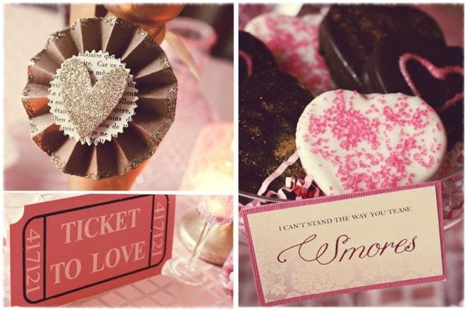 valentine's ticket to love smores