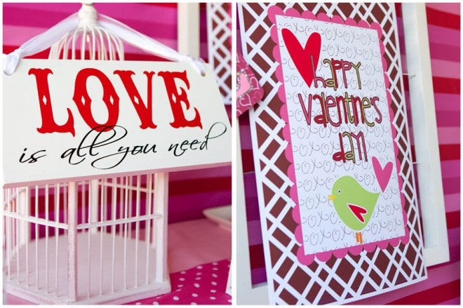 love birdcage valentine's party