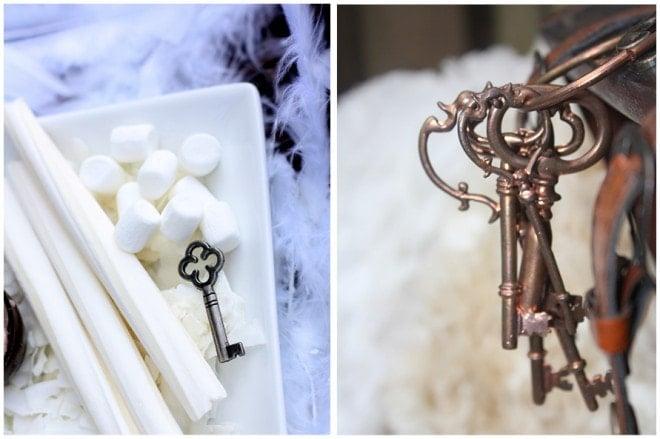 vintage keys wedding