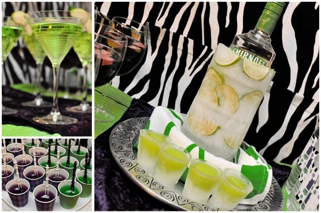 zebra cocktails