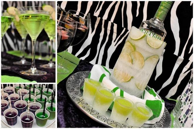 zebra cocktails