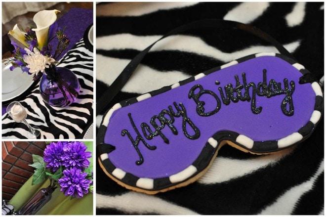 zebra sleepover party cookies