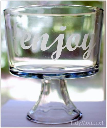 etch glass silhouette