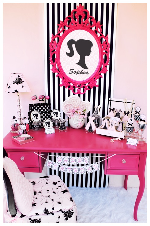 Barbie Inspired Party Table