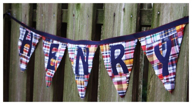 Silhouette Bunting Birthday Banner