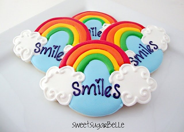 Rainbow and Cloud cookies