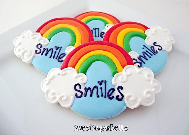 Rainbow and Cloud cookies