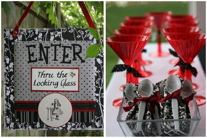 alice in wonderland through the looking glass party