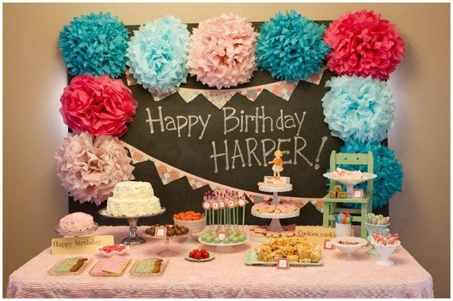 Vintage School Themed 1st Birthday Party!