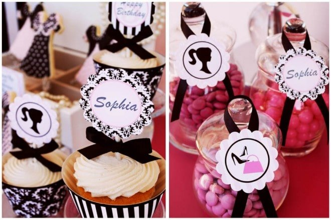 barbie birthday cupcake toppers