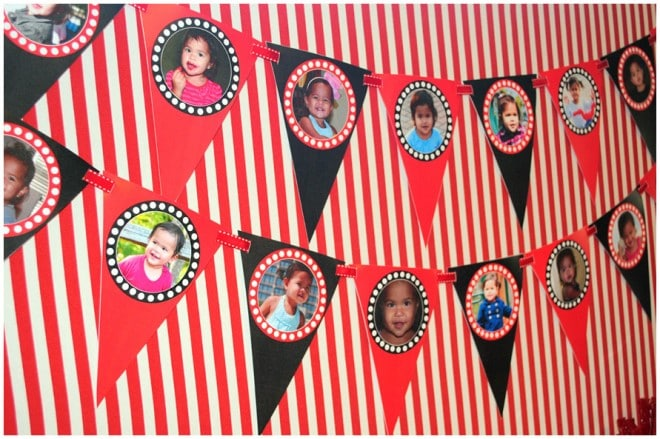 birthday photo party banner