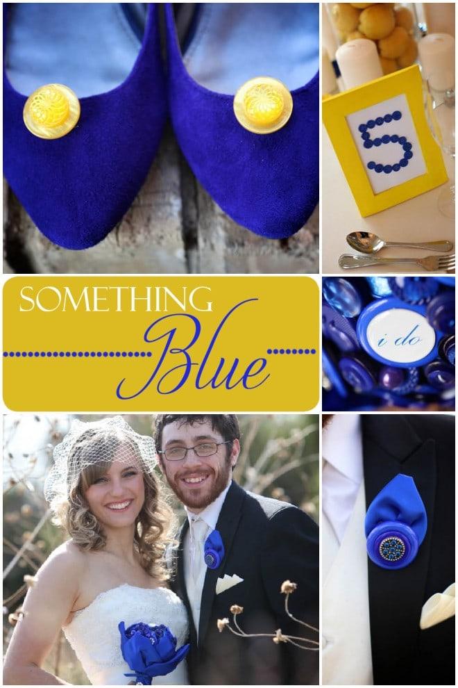 blue and yellow texas wedding