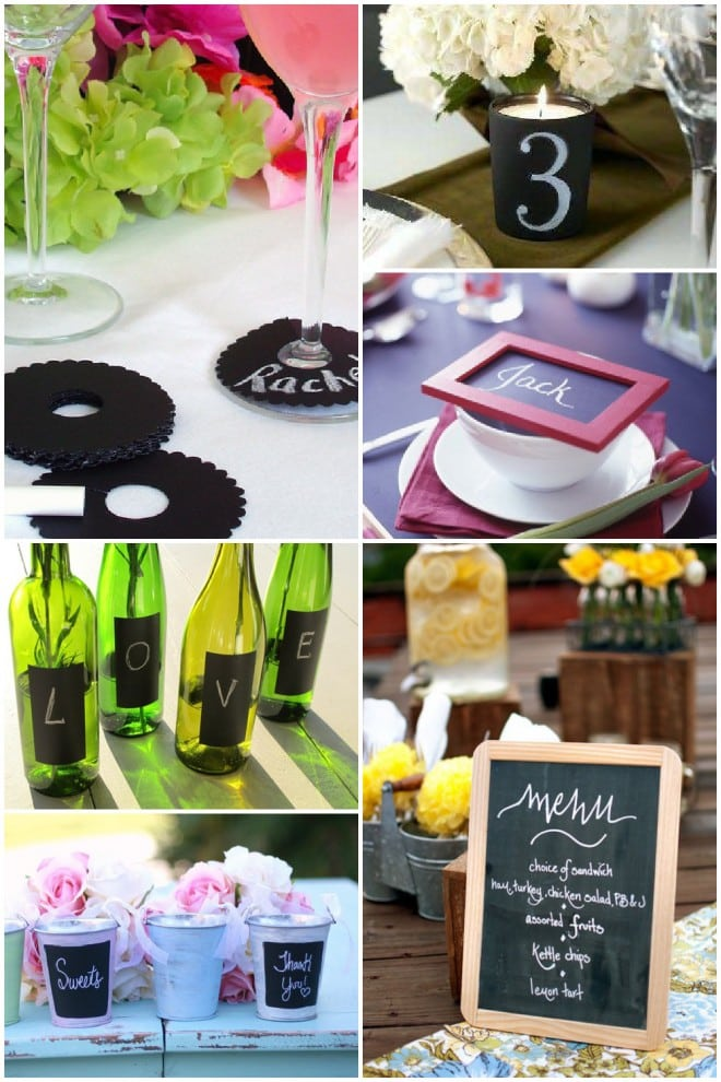chalkboard party wedding ideas