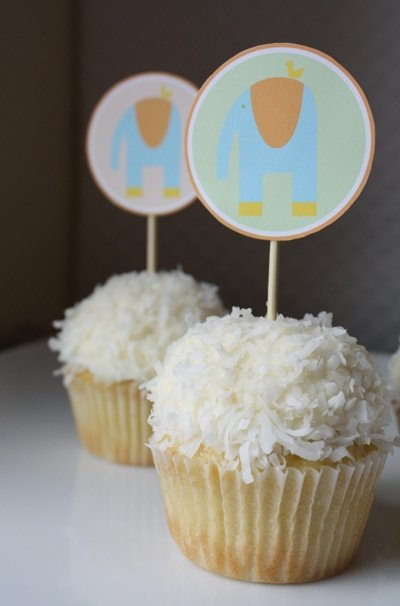 Free printable baby shower cupcake toppers - Modern Baby Shower Ideas!