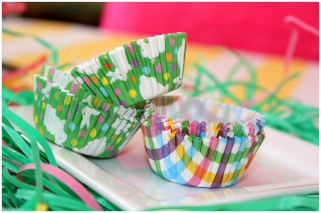 dollar tree easter cupcake liners