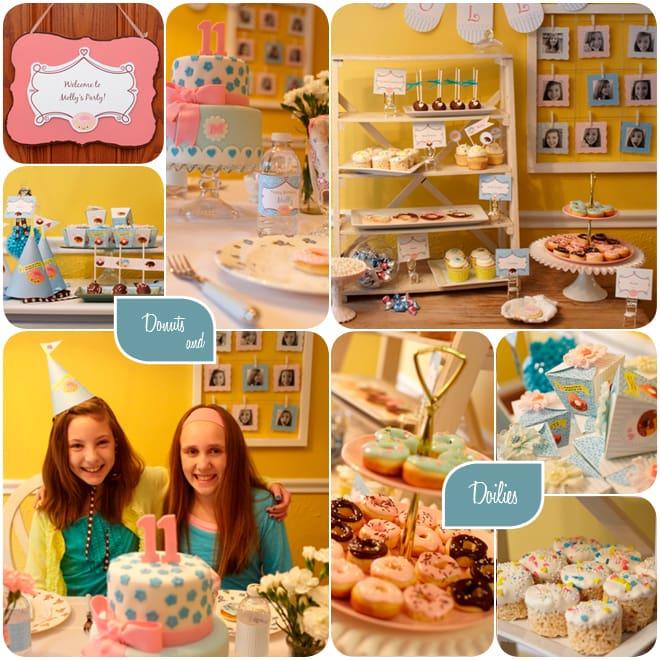 Donuts & Doilies Birthday