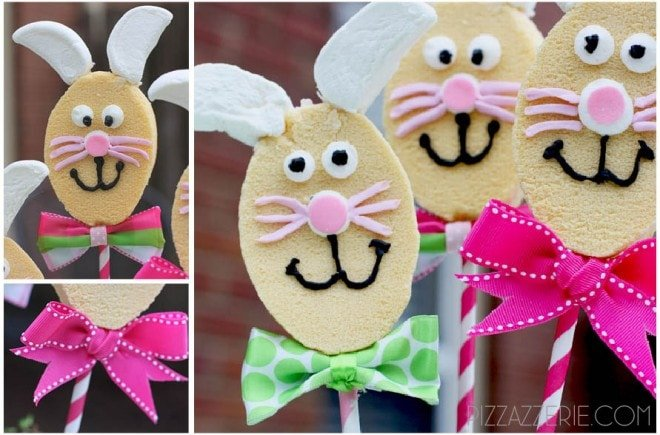 easter bunnies on a stick