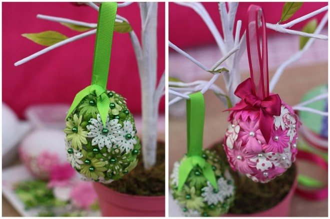 flowered easter egg how to