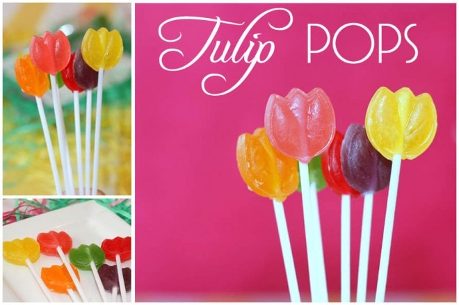 easter tulip pops
