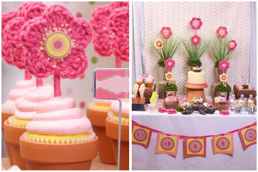 Pink Yellow Spring Garden Party Pizzazzerie