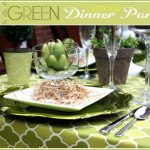 Green Outdoor Dinner Party + Stuffed Artichoke Recipe