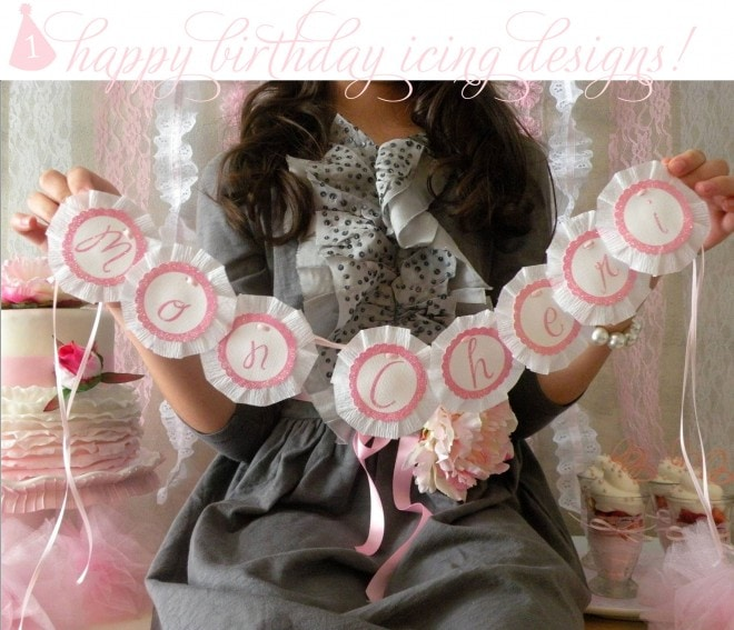 happy blogiversary icing designs