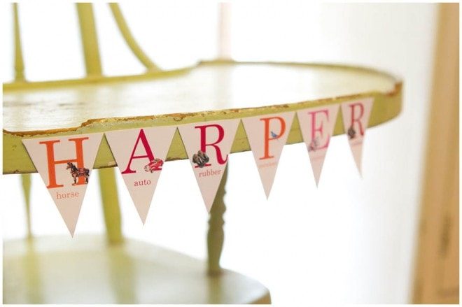 vintage school themed 1st birthday party