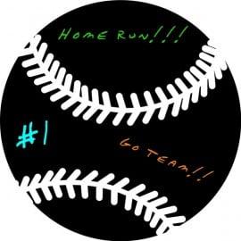 chalkboard vinyl baseball