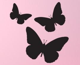 vinyl chalkboard butterflies