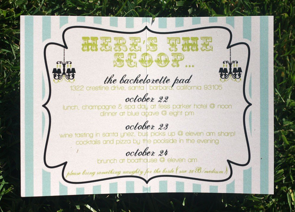 Bachelorette Party Invitation Ideas | Pizzazzerie