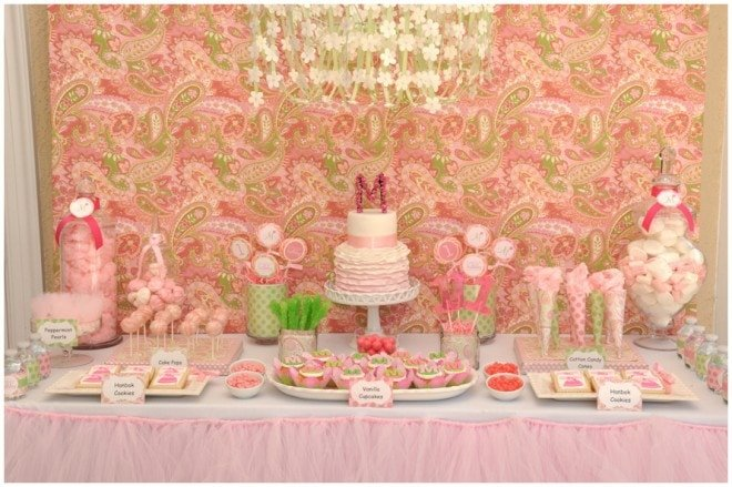 Madeleine's Dol Celebration {Pink & Green Paisley}