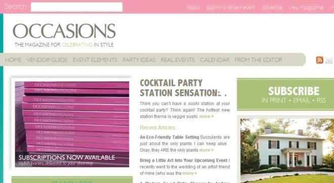 occasions online magazine