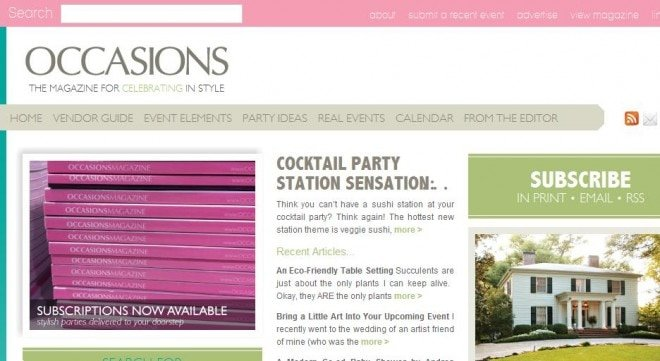 occasions online magazine