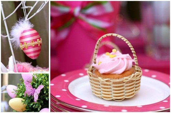 easter basket cupcake