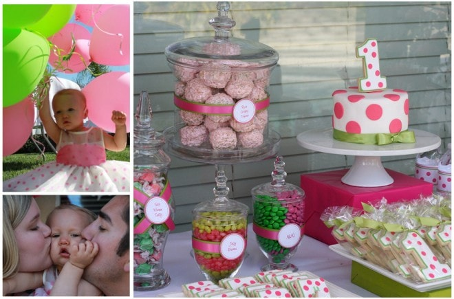 polka dot birthday party for girl