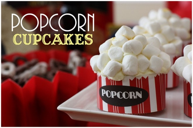 popcorn movie cupcakes