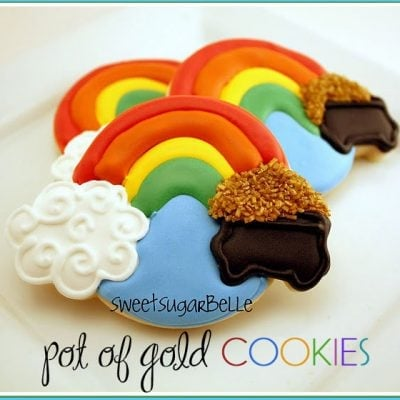 pot of gold st. patrick's day cookies