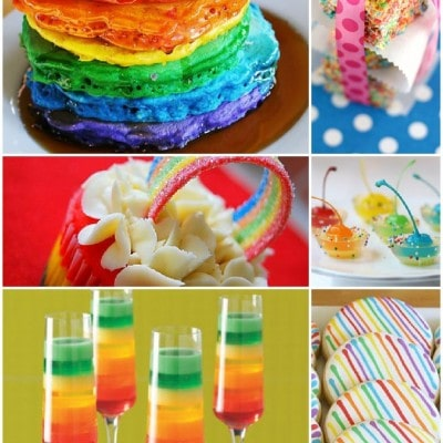 rainbow desserts and foods