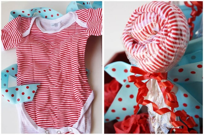 {Baby Showers} Lollipop Onesies from Rosenberry Rooms