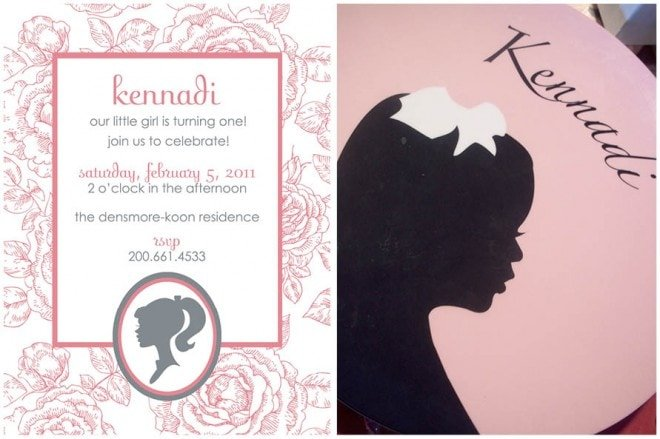 Pink Silhouette 1st Birthday Party