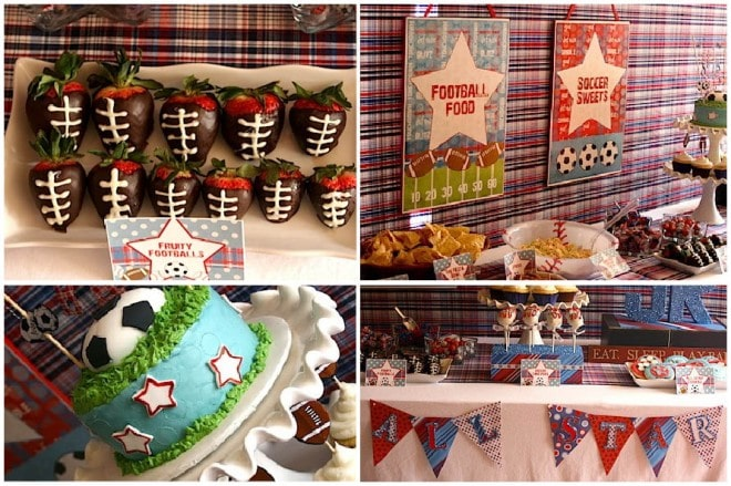 sports themed baby shower ideas 5