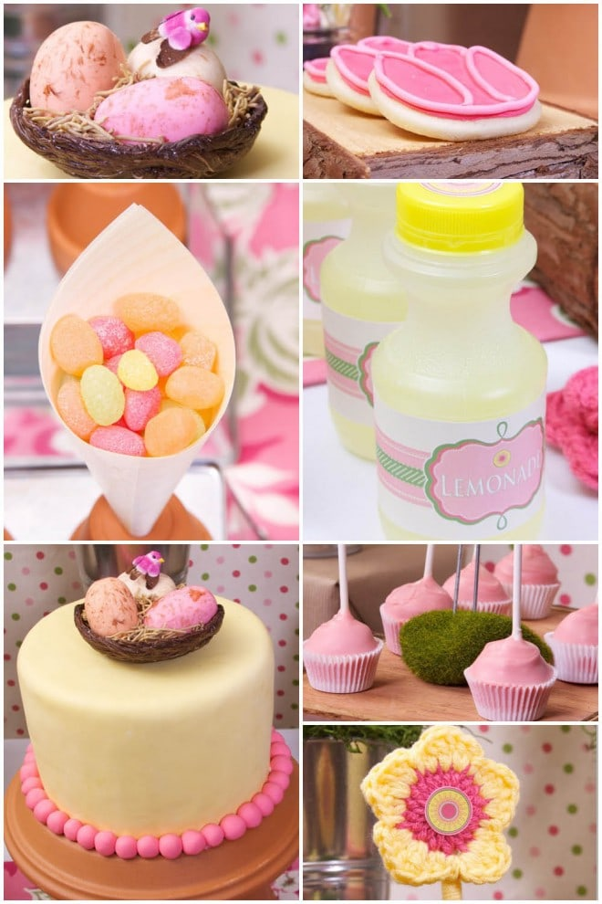 spring pink and yellow party