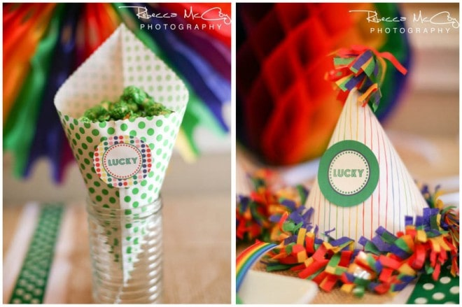 st. patrick's day party cones and hats