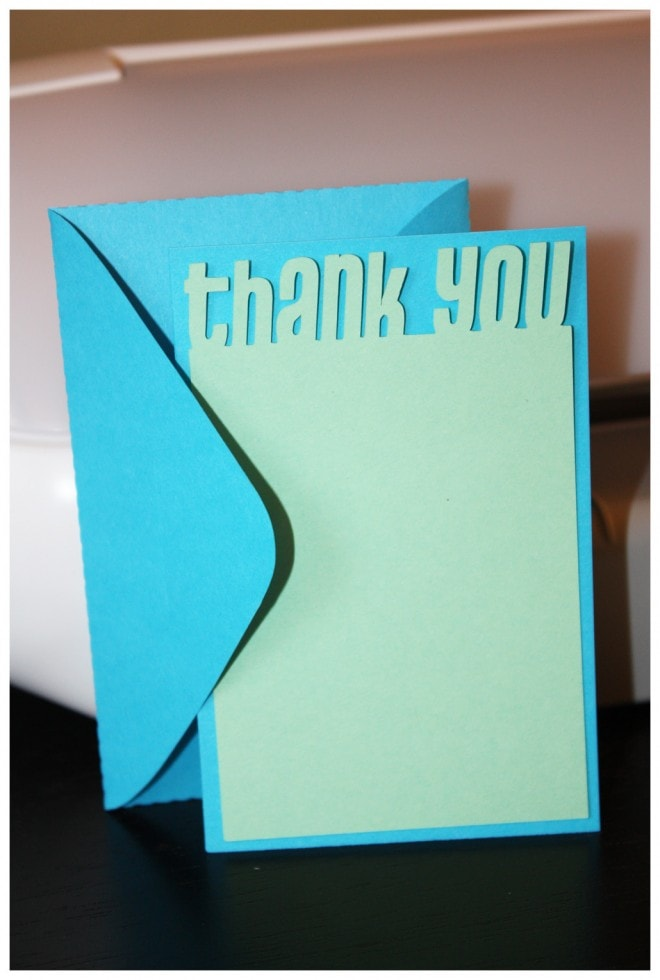 thank you card silhouette