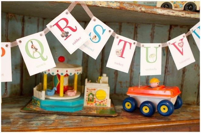 vintage school themed 1st birthday party