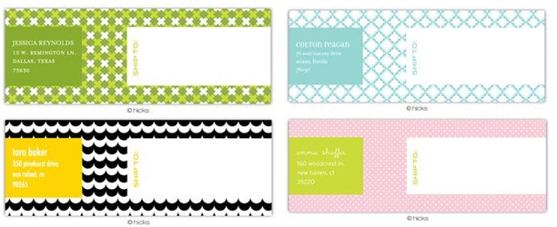 wrap around address labels