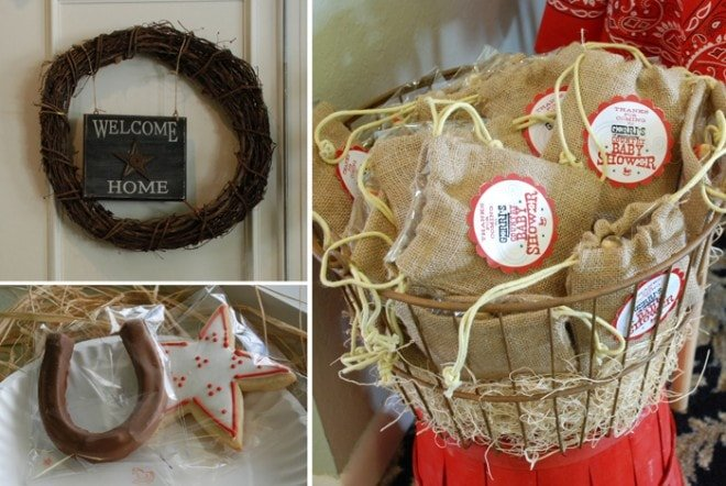 country themed baby shower favors