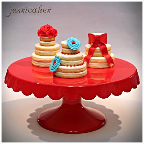 wedding sugar cookie cakes